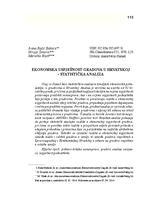 prikaz prve stranice dokumenta EKONOMSKA USPJEŠNOST GRADOVA U HRVATSKOJ - STATISTIČKA ANALIZA