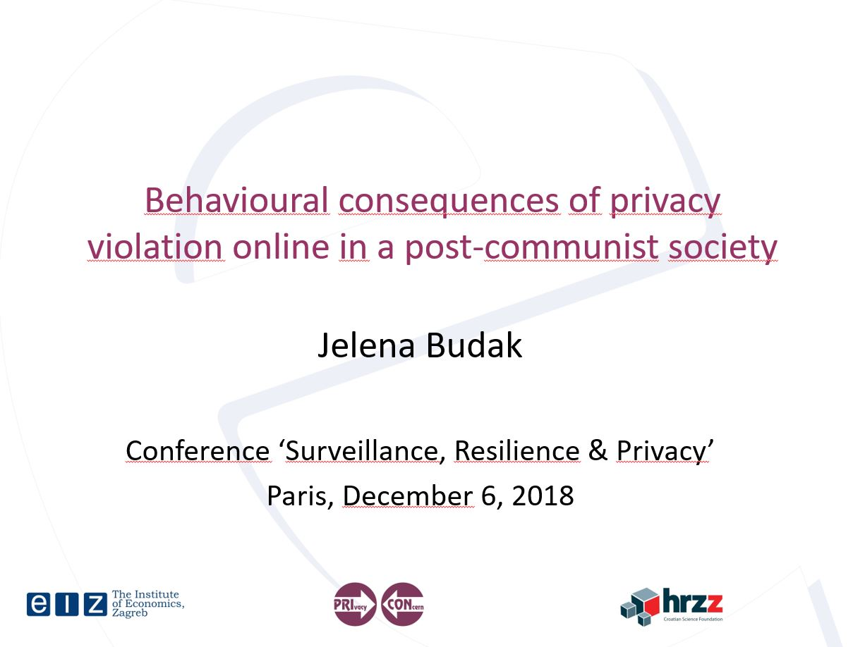 prikaz prve stranice dokumenta Behavioural consequences of privacy violation online in a post-communist society: resilience explained?