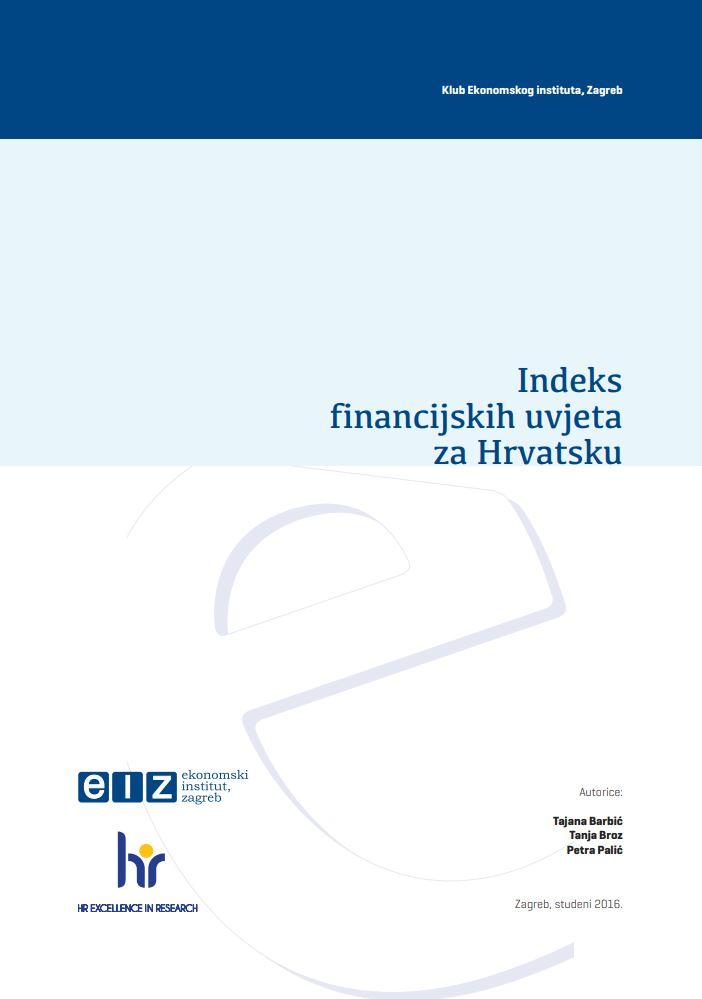 Indeks financijskih uvjeta za Hrvatsku