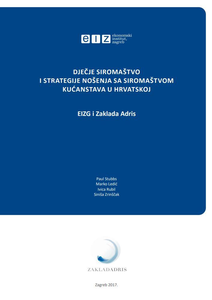 prikaz prve stranice dokumenta Dječje siromaštvo i strategije nošenja sa siromaštvom kućanstava u Hrvatskoj