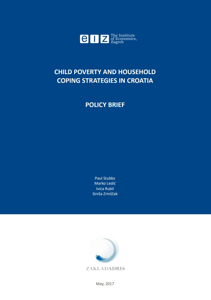 Child poverty and household coping strategies in Croatia : policy brief