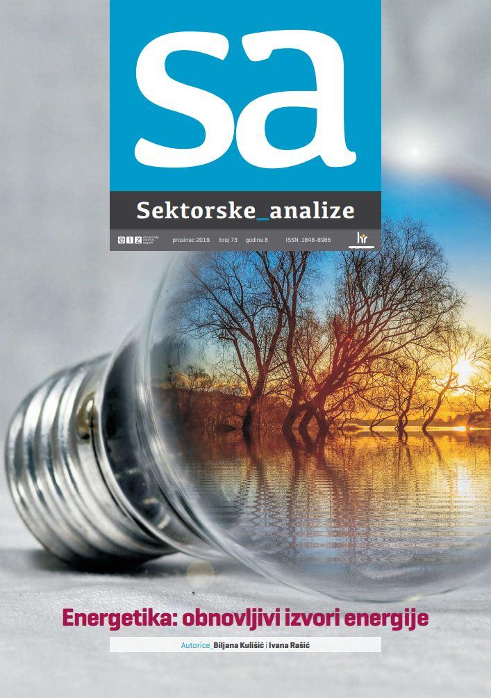prikaz prve stranice dokumenta Sektorske analize. Energetika: obnovljivi izvori energije